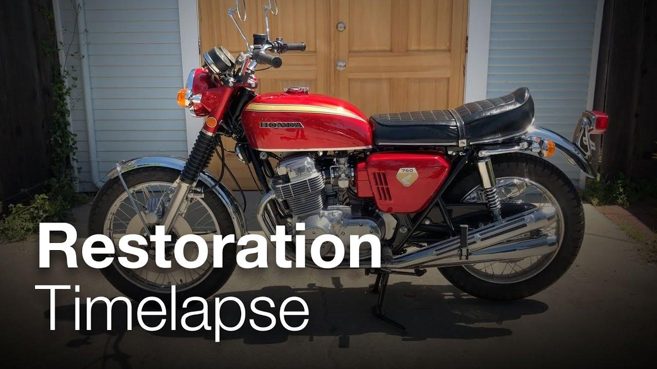 画像: 1969 Honda CB750 Sandcast Restoration Timelapse youtu.be