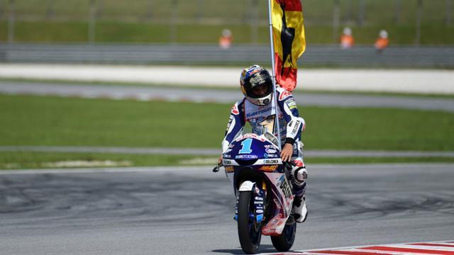 画像: マレーシアGPでタイトル獲得を決め、2018年MotoGP王者となったJ.マルティン(ホンダ)。 www.marca.com