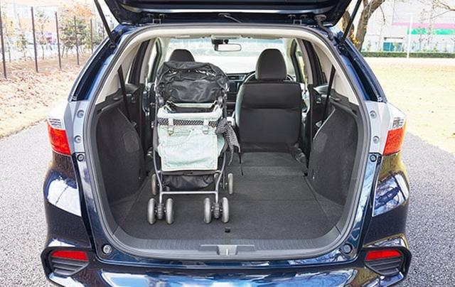 画像: わんこ用カート(Mother Cart)を積んだ状態 www.honda.co.jp