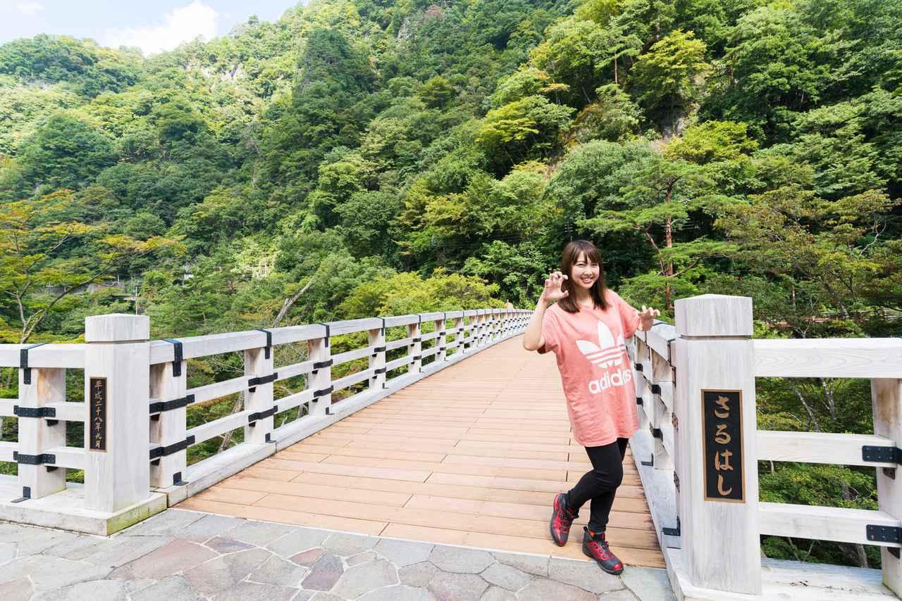 画像1: 吾妻渓谷(猿橋)へ到着!