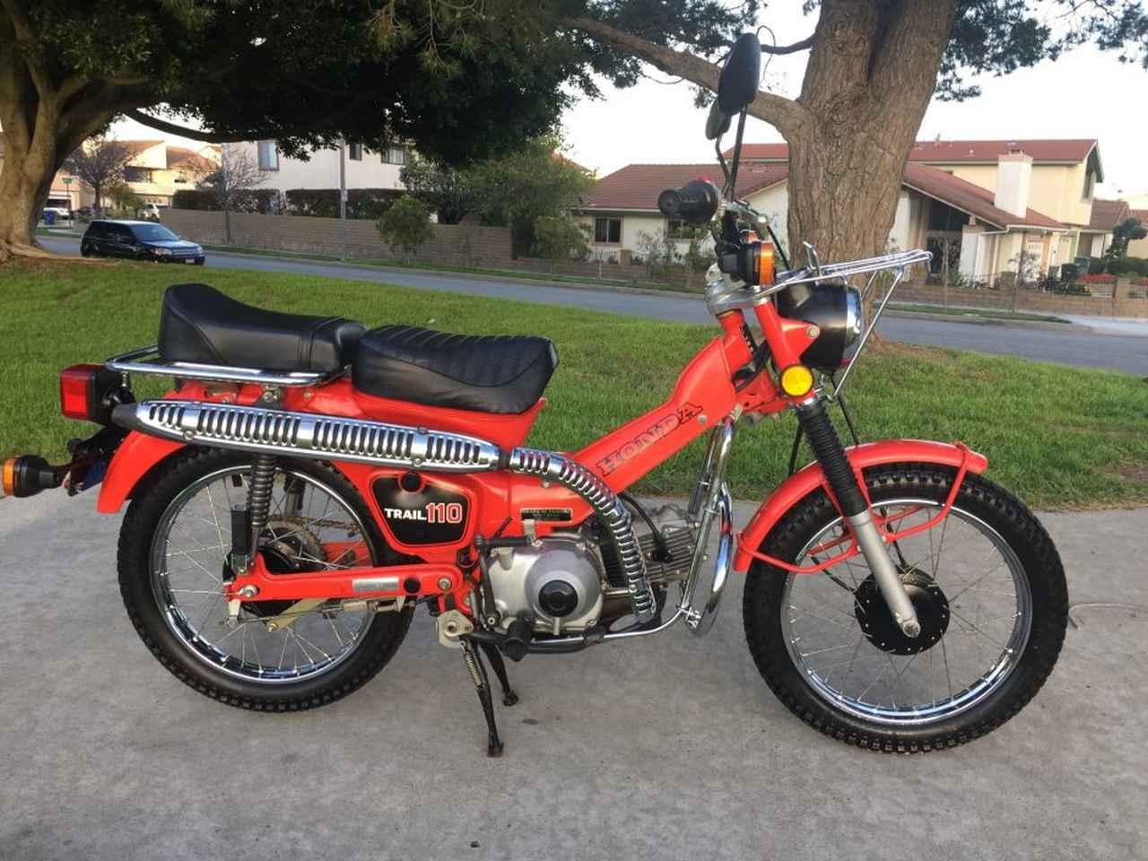 画像: 1981年型輸出市場向けホンダCT110。1980年に登場したCT110は、21世紀の時代にも生き残るロングセラーになりました。 bringatrailer.com