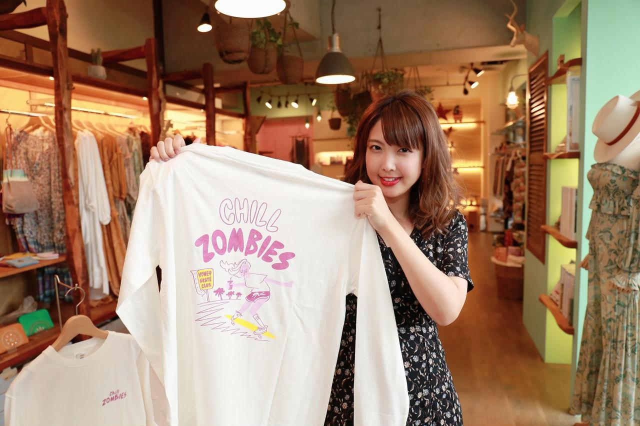画像: CHILL ZOMBIES HONEY SKATE CLUB ロングスリーブカットソー 7,150円(税込)