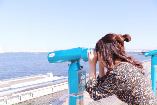 画像3: 大桟橋で海とみなとみらいを見渡します