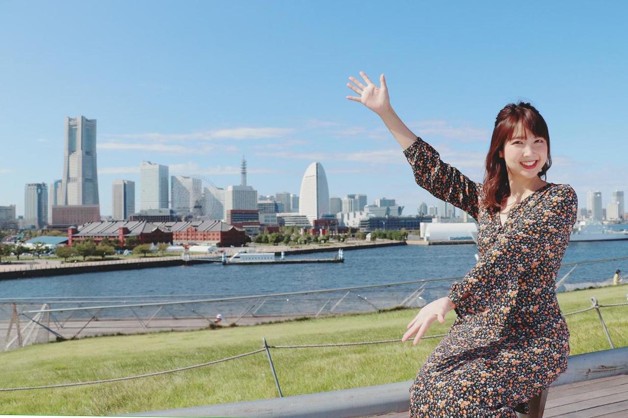 画像1: 大桟橋で海とみなとみらいを見渡します