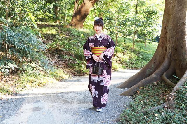 画像2: 大人可愛い着物を纏い、しっとりうっとり庭園散策♪