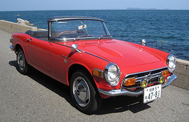 画像: 往年の名車展示コーナーにて・ホンダ S800 www.fukuoka-motorshow.jp