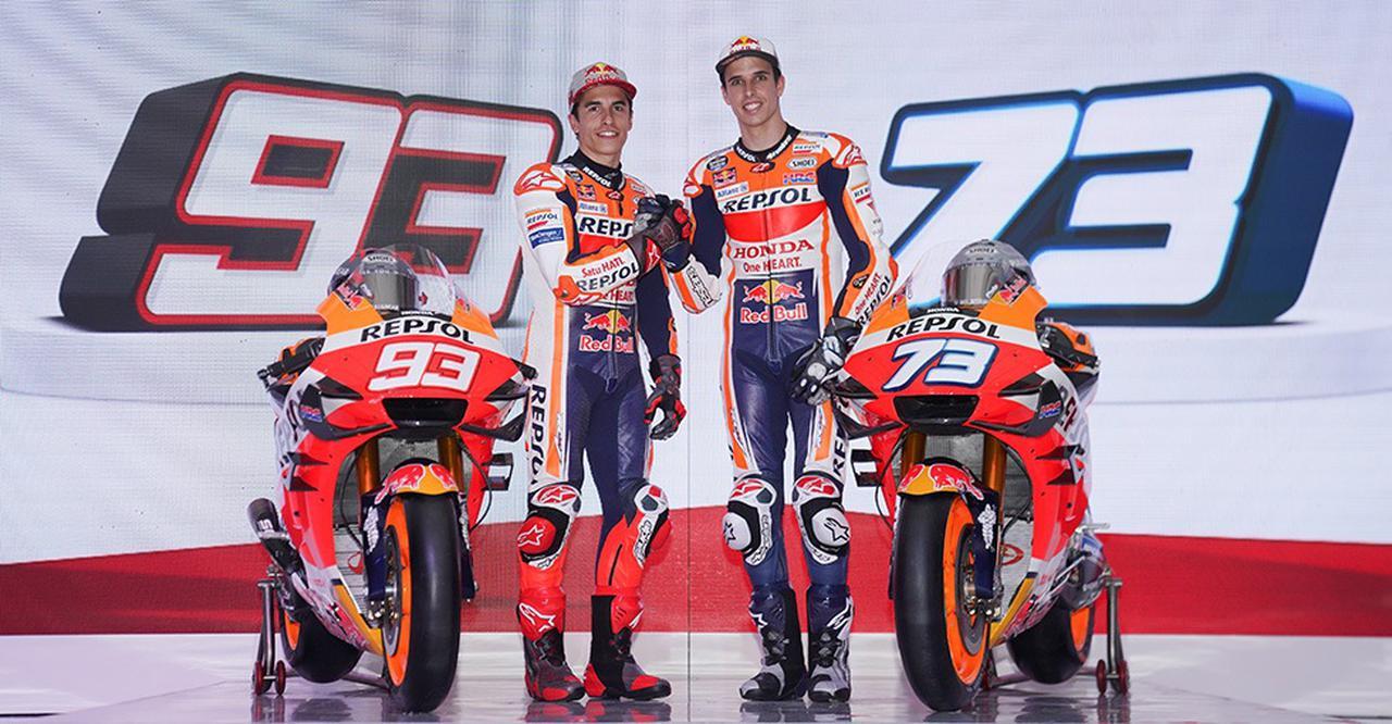 画像: 現在最強のMotoGPライダーと誰もが認めるM.マルケス(左)と、2019年Moto2王者のA.マルケス。 www.honda.co.jp