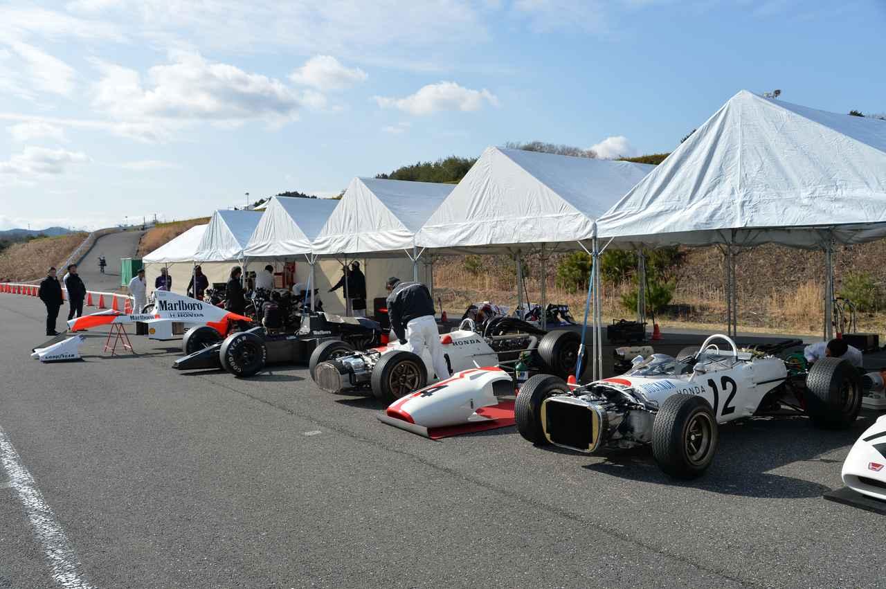 画像1: 世界GP、F1で活躍した名車がずらり…!