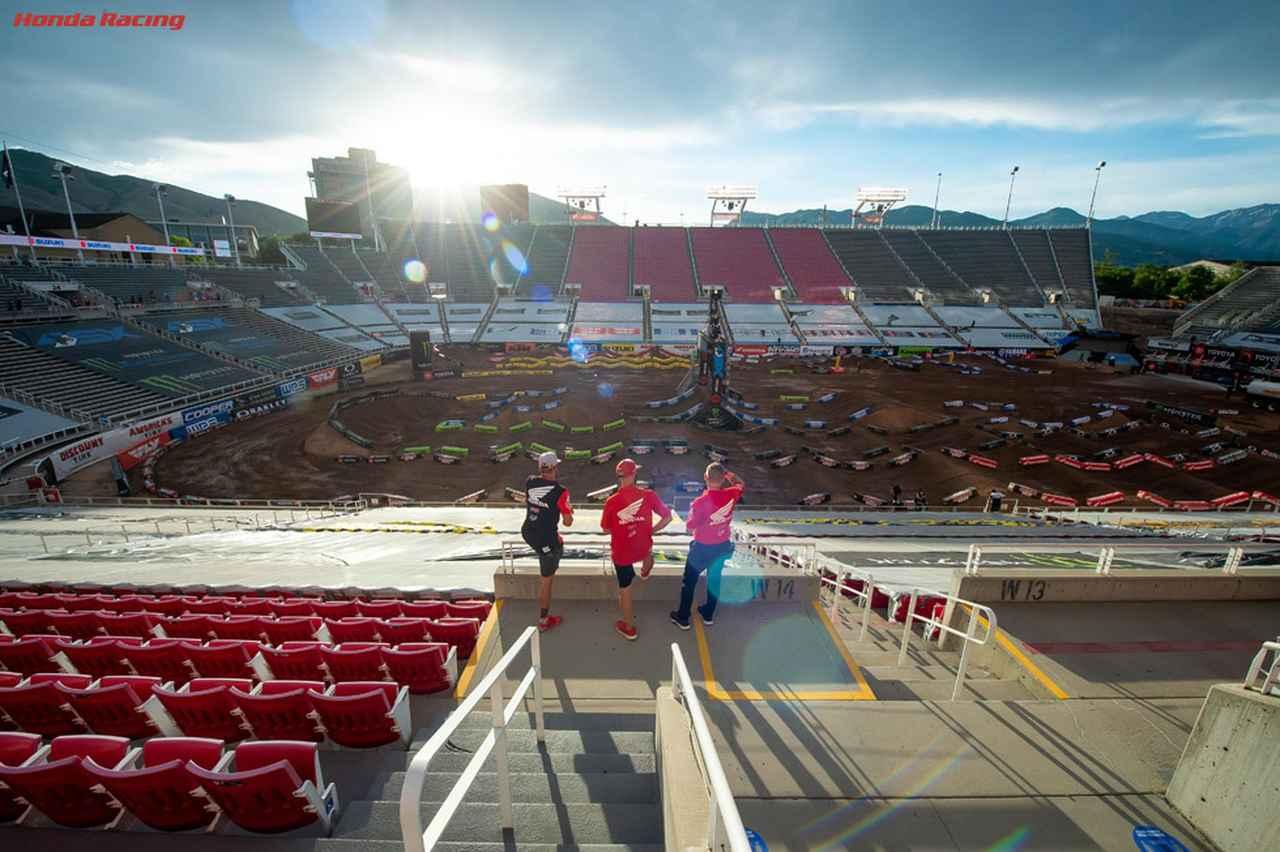 画像: 第11~17戦の会場となる、ソルトレイクシティのライス・エクルズ・スタジアム。コースレイアウトは毎戦変更されます。なおCOVID-19対策で無観客で行われることになりました。 www.honda.co.jp