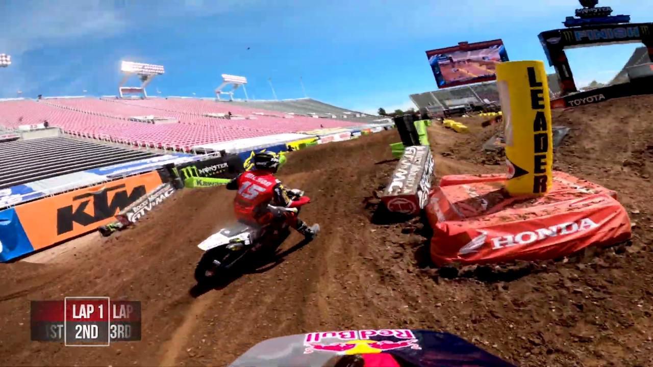 画像: GoPro: Ken Roczen - 2020 Monster Energy Supercross - 450 Main Event Highlights - Salt Lake City 7 youtu.be