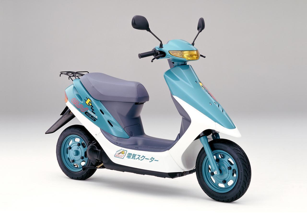 画像: 1994年3月10日に発売された、ホンダCUV ES。その車名は、クリーン・アーバン・ビークル・エレクトリック・スクーターを意味しています。 www.autoby.jp