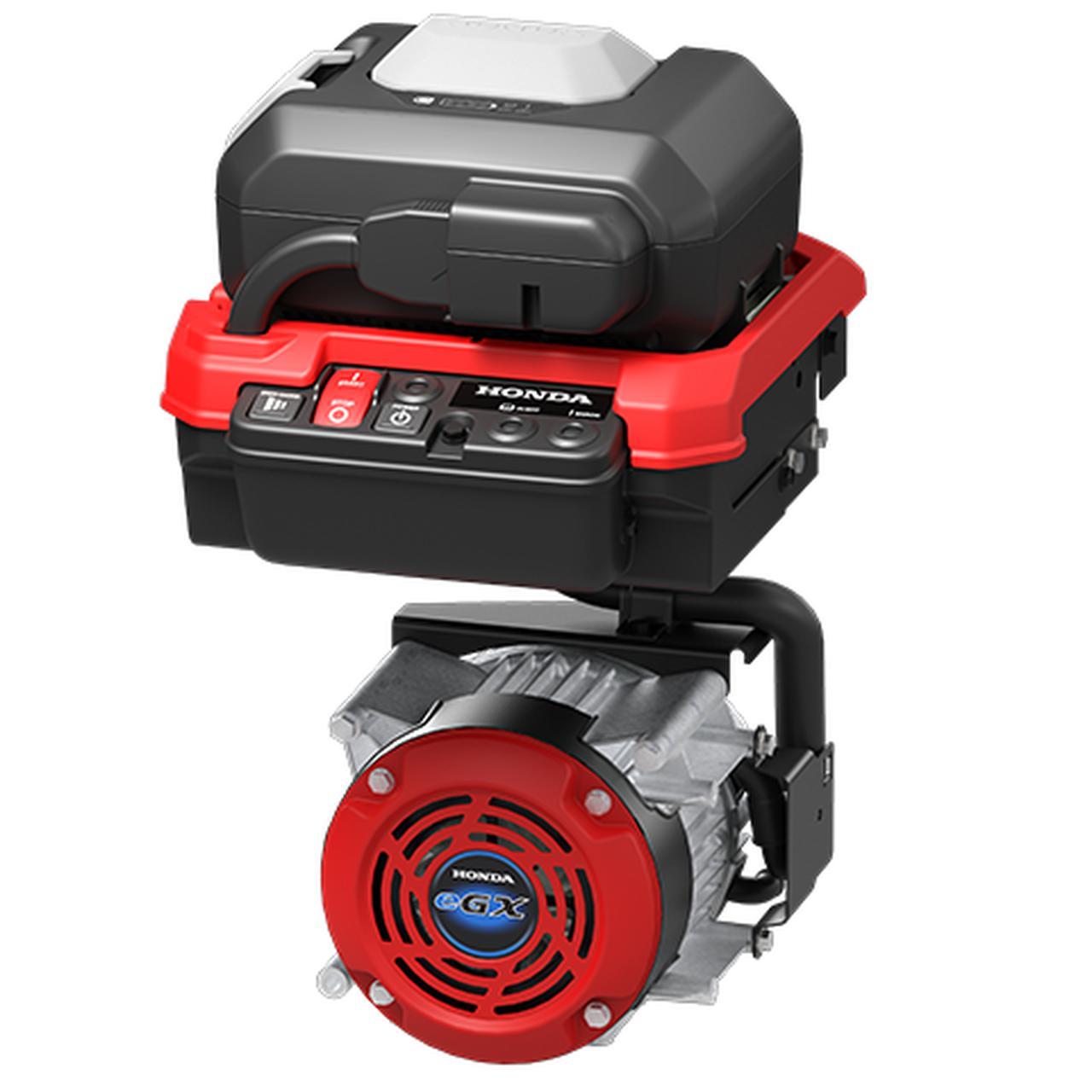 画像: セパレート型の「GXE2.0S」はコントロールユニットが全長351×全幅299×全高251mm(バッテリーパック含む)、モーターが全長233×全幅224×全高194mmというサイズ。重さは22.9kgです。 www.honda.co.jp