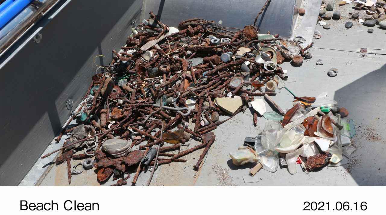 画像: 釘やネジ等の金属系のゴミ