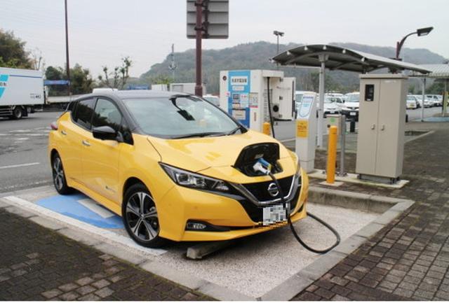 画像: 電気自動車(EV)日産リーフ