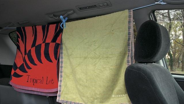 画像: 3.吸盤&洗濯ロープ&衣類で視線をカット!
