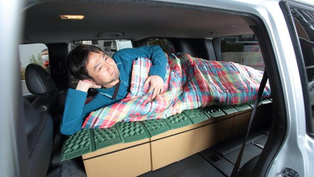 画像1: 材料費1,755円! ホンマはなんと! 段ボールのベッド!