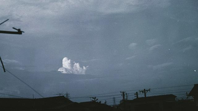 画像: 積雲が発生