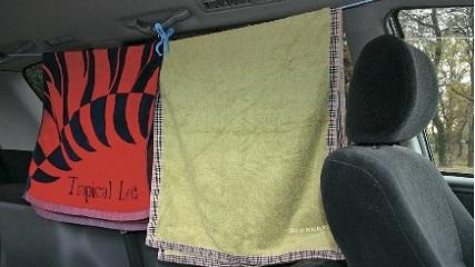 画像: 洗濯ひもや洗濯ばさみなども、車載しておきたいおすすめグッズ。