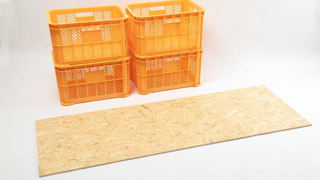 画像2: 材料費3,238円! ヨコヤマは果物用コンテナで挑む!
