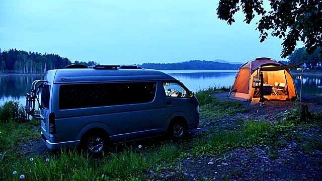 画像3: 北海道トップクラスのロケーション! 朱鞠内湖畔キャンプ場で車中泊