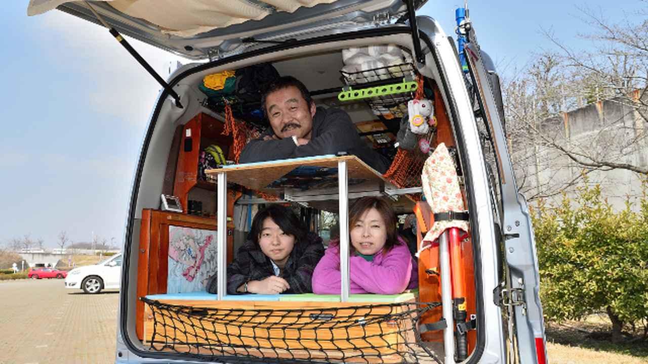 画像3: 軽自動車アトレーでも3人就寝できる、自作の2段ベッド仕様!