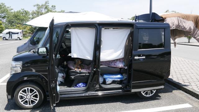 車中泊避難