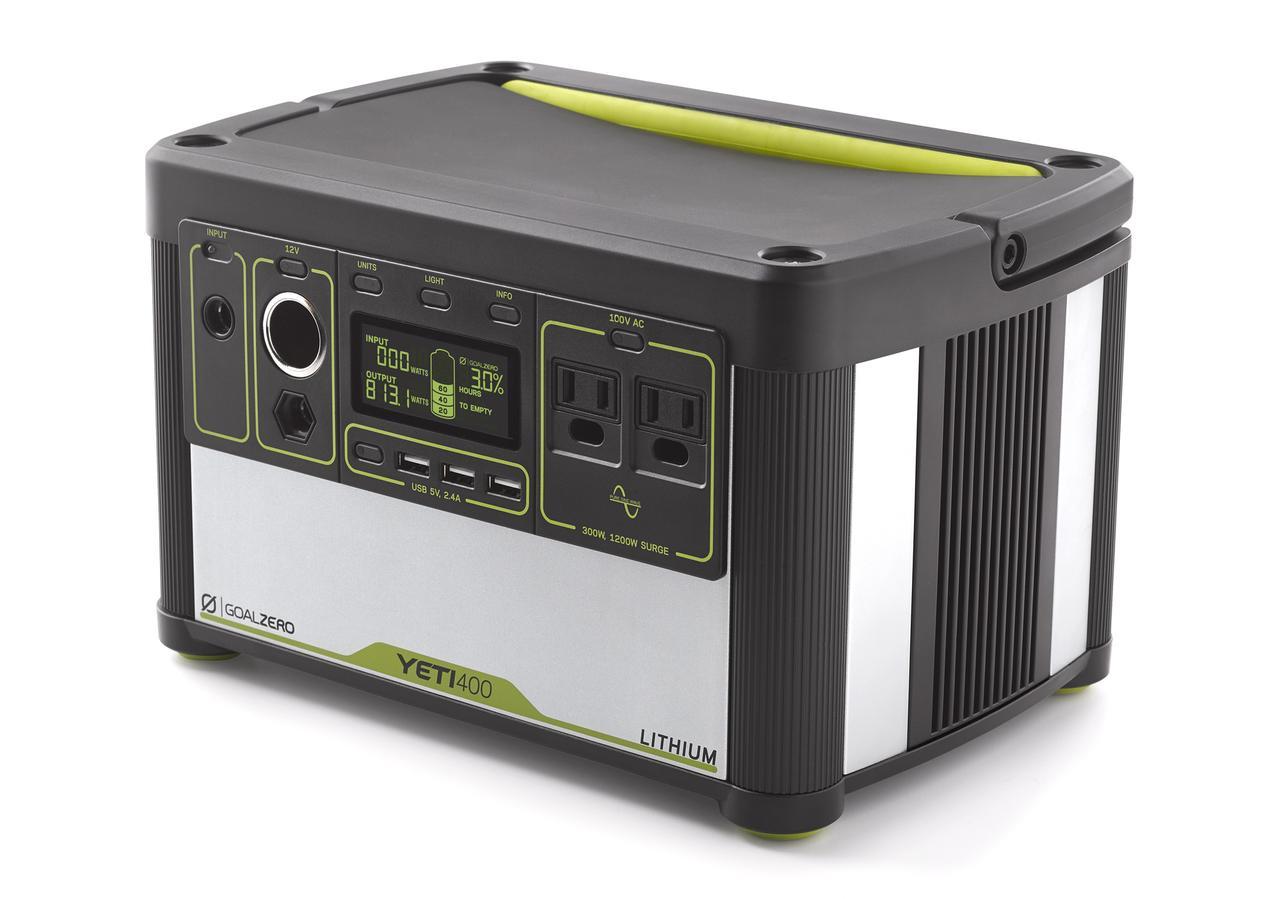 画像: GOAL ZERO Yeti Lithium 400(100V) Portable Power Station