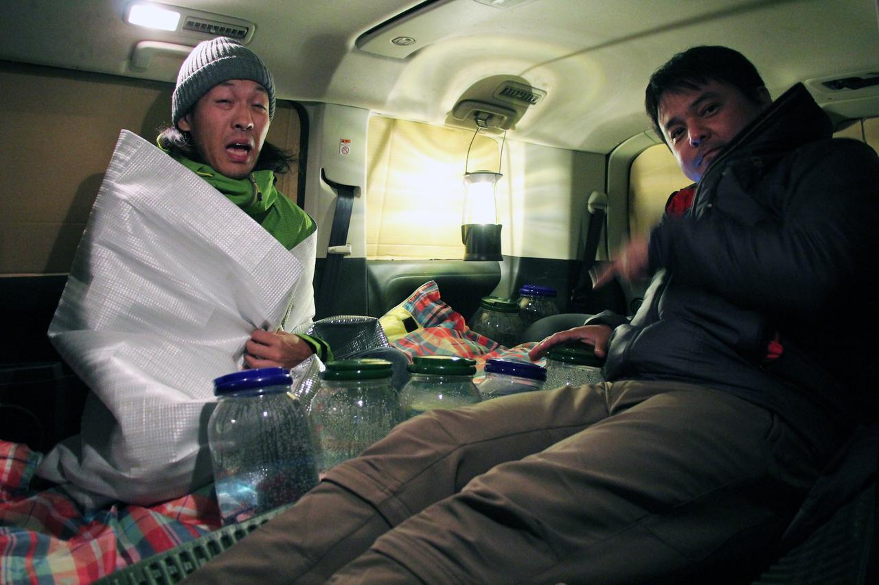 画像6: 氷点下の福島県で、さっそく実験開始!