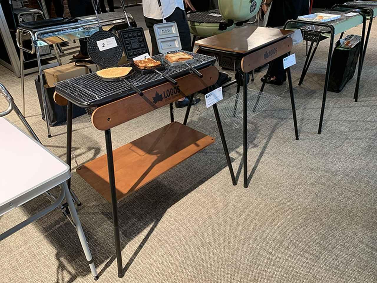 画像: ロゴス「eco-logosave アイアンウッドグリル」はサイズ違いで2タイプ用意。付属の木製パネルは天板やラックとして使える。「80XL」が23,500円、「80L」は19,900円
