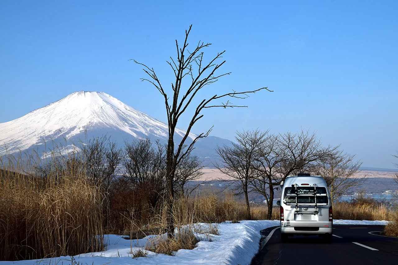 画像: 県道730号で御殿場から山中湖に抜ける途中にある三国峠。凍結しやすいので、行くときは晴れた日の日中に通ろう。