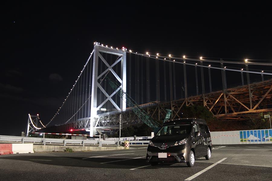 画像: クルマで初めて九州→本州を繋いだ今回。関門海峡にかかる関門橋は福岡県・めかりPAから撮影。