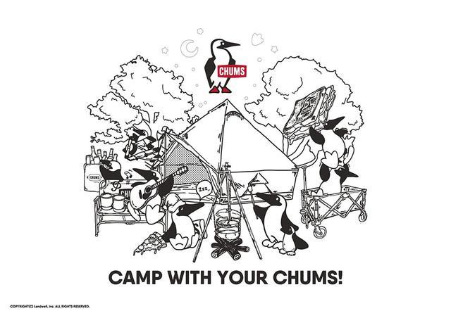画像: チャムス 壁紙やぬりえ、しおりのダウンロード