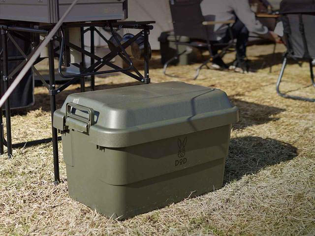 画像: DODオリジナルカラーを採用した収納ボックス「ヨクミルヤーツ」。