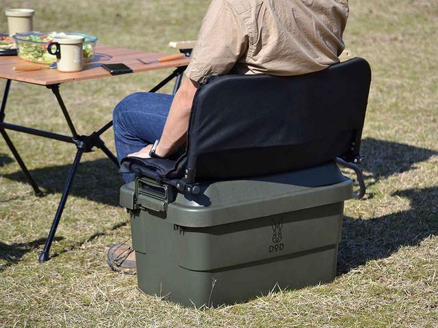 画像: 収納ボックス「ヨクミルヤーツ」のオプション、収納ボックスをソファ化する「スワルヤーツ」。