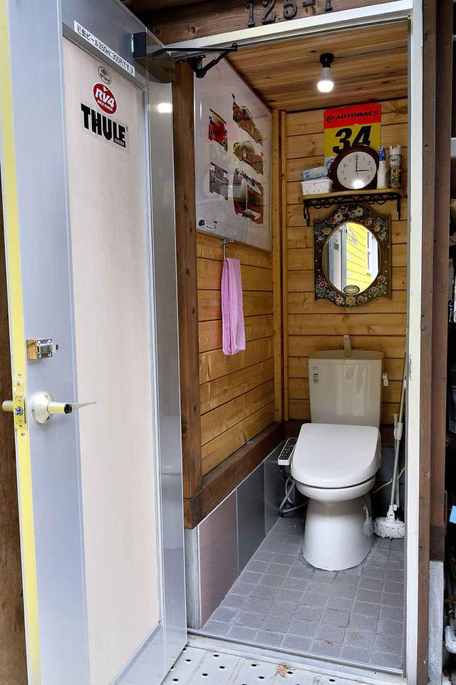 画像: 24時間利用可能なトイレがあるのが、RVパークのいいところ。