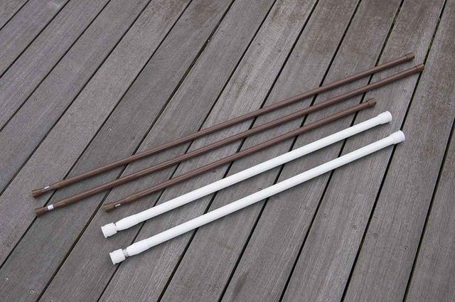 画像1: 突っ張り棒の簡易カーテンレール
