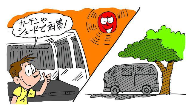 画像: 【車中泊の暑さ対策2】日中は車外からの日差しを防ぐ工夫を