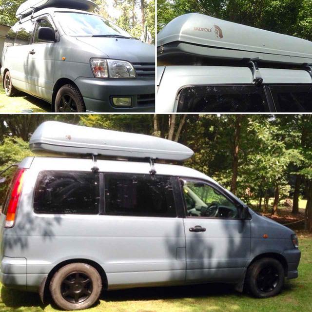 画像: 茨城県でプライベートキャンプ場TADPOLE CRAFTを経営している友人、ケンゾウくんの車。