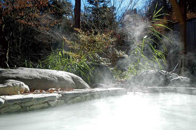 画像: 塩原温泉湯元泉館は硫黄の濁り湯。