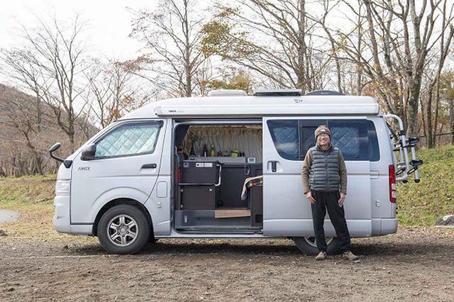 画像: 車中泊、クルマ旅の専門家、稲垣朝則さん。