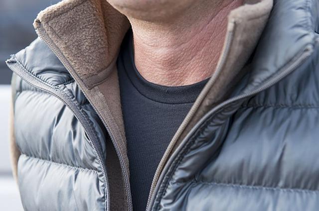 画像: ①基本は3アイテムの重ね着。暖かい空気の層をつくる