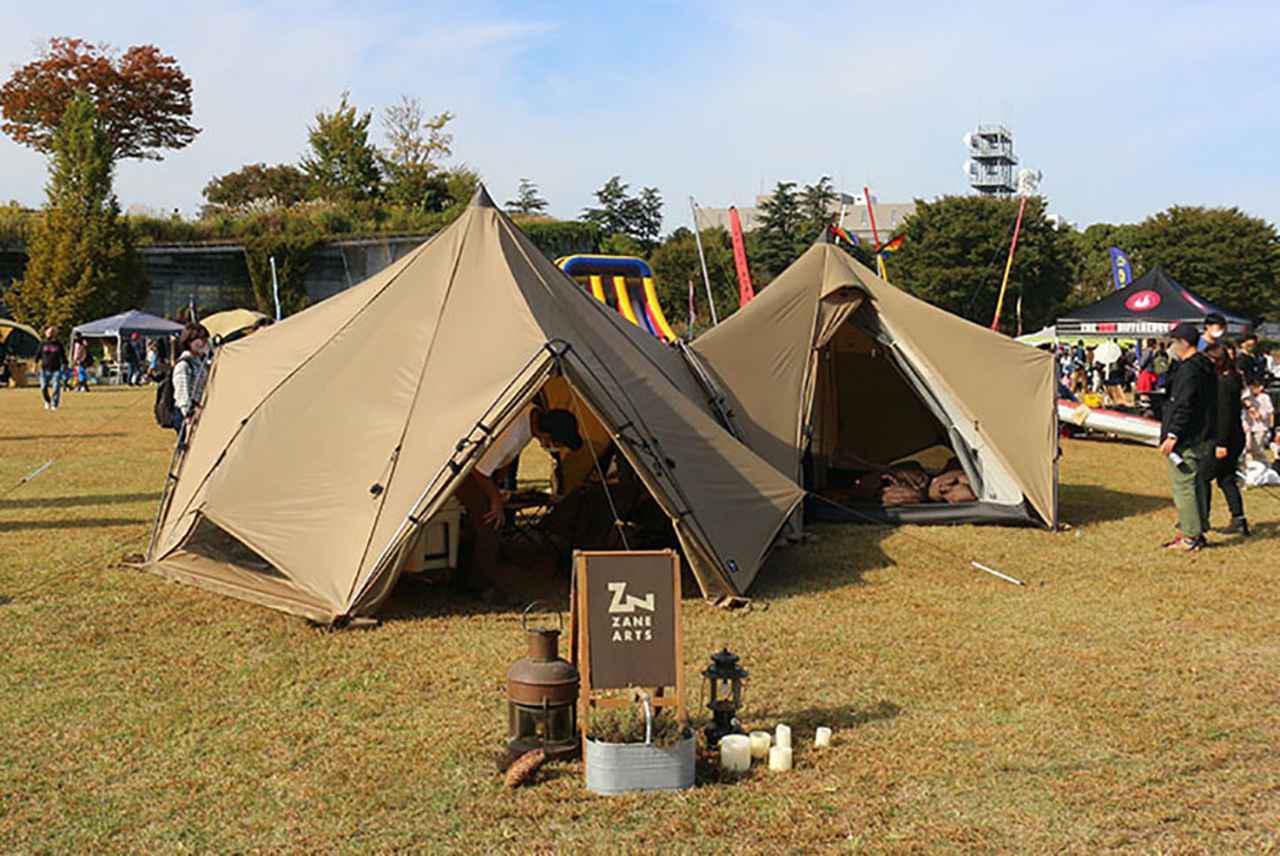 画像: 【ゼインアーツ】大人気テントの連結スタイル
