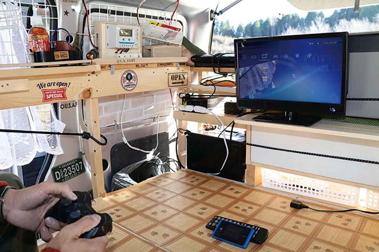 画像2: 車内のエンタメ 環境はPS3とWi-Fiルーターで構築