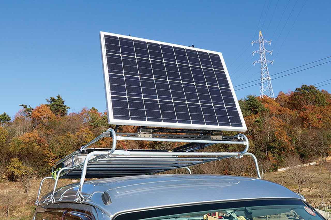画像3: 可変式のソーラーパネルで、電気の確保は万全! 災害にも備える