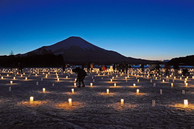 画像: 【富士山】冬の風物詩。山中湖のダイヤモンド富士