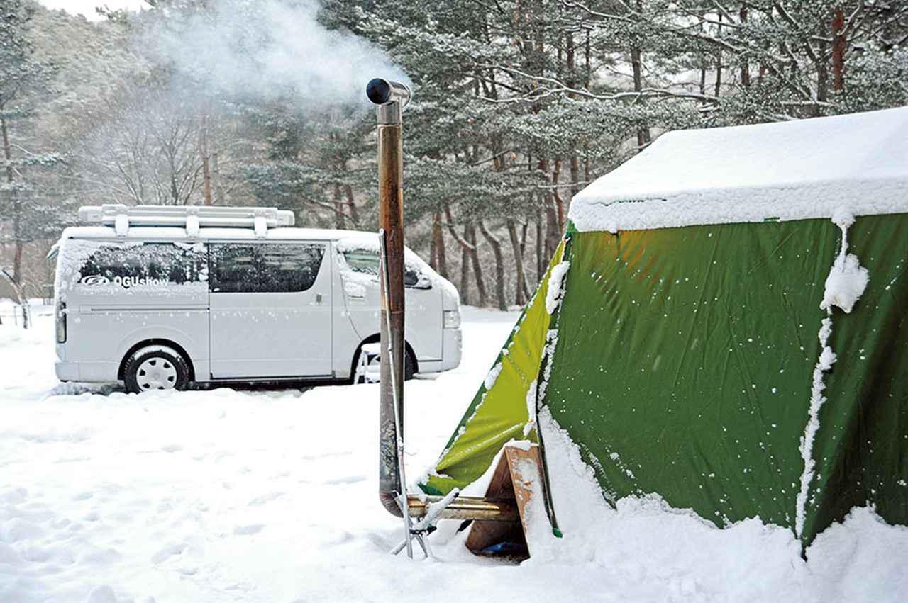 画像1: 雪中キャンプ 狭い居住スペースをカバーするスノー・スポーツのベース基地