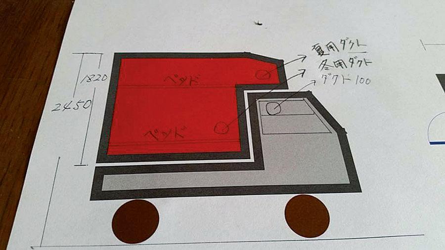 画像2: 荷室サイズから部屋の大きさを設計