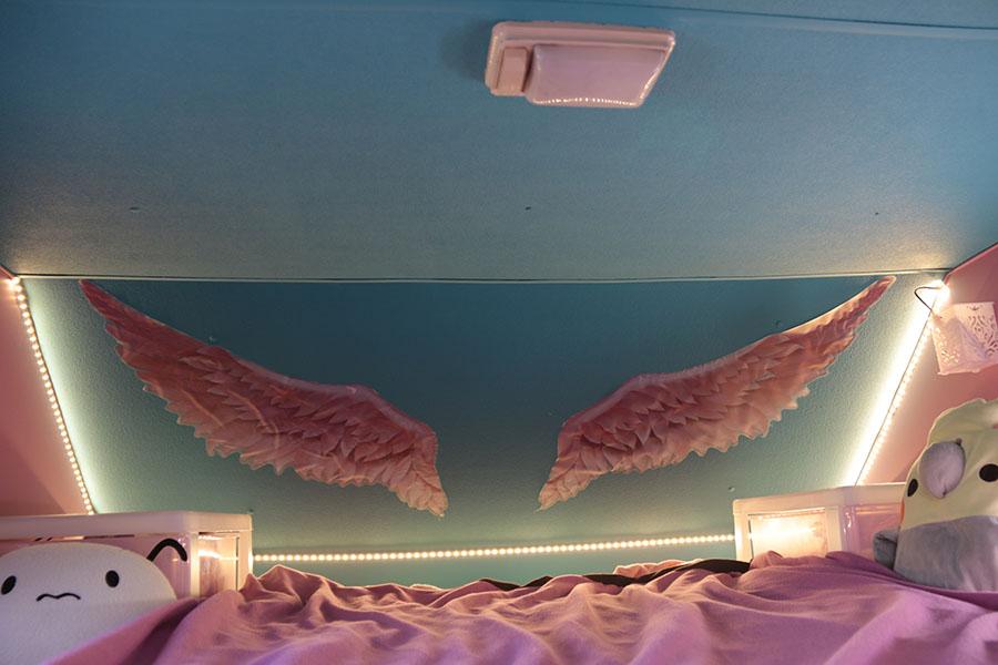 画像2: バンクベッドをCheck! 天使の羽と羽毛布団で心も体も軽く温かく!