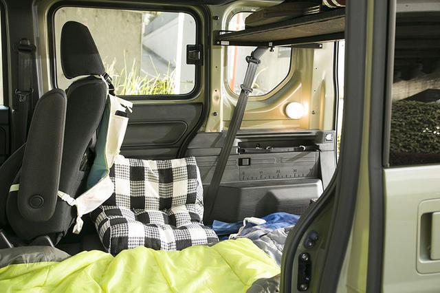 画像11: 小田原ドラゴン先生の愛車・N-VANの車中泊装備は!?