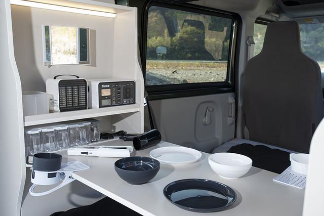 画像2: 新作キャビネットと直流家シリーズの車中泊グッズで、快適な車内環境ができあがる!